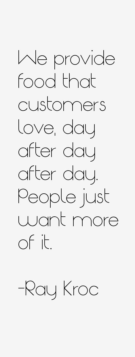 Ray Kroc Quotes