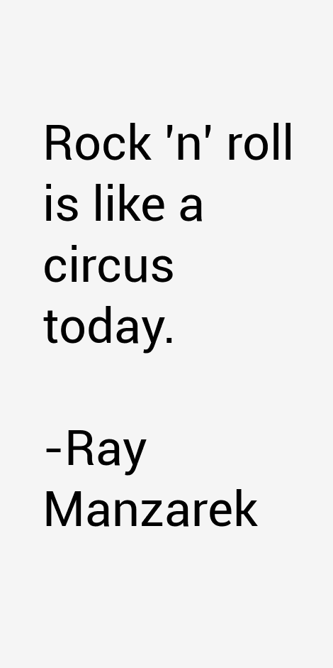 Ray Manzarek Quotes