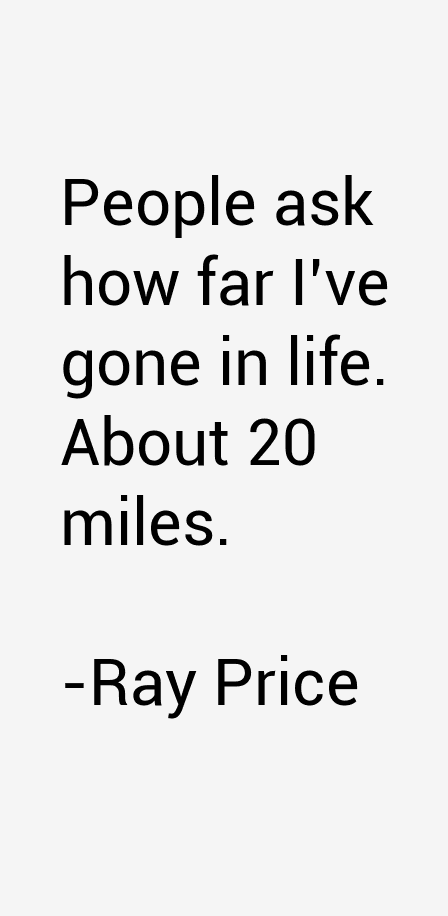 Ray Price Quotes