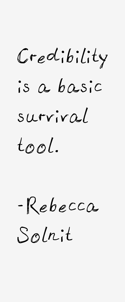 Rebecca Solnit Quotes