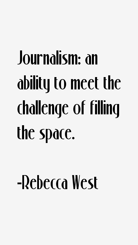 Rebecca West Quotes