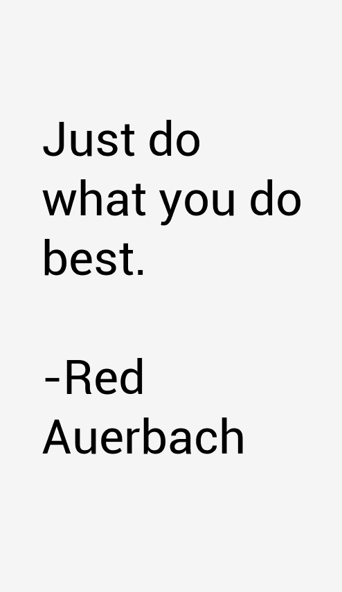 Red Auerbach Quotes