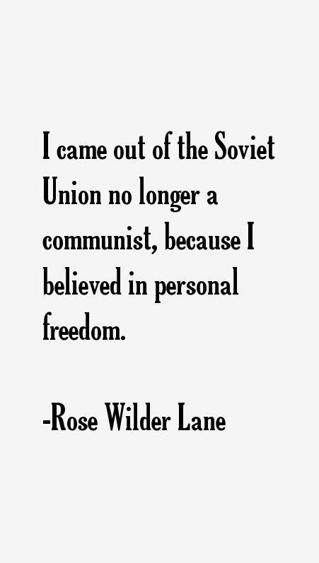 Rose Wilder Lane Quotes Sayings