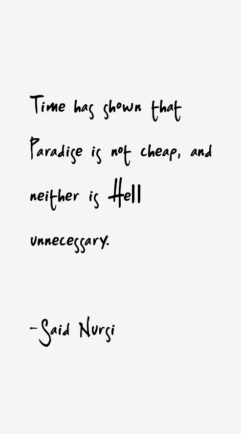 Said Nursi Quotes