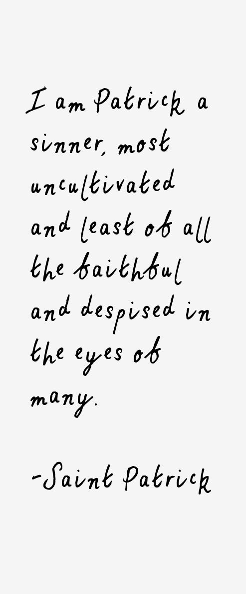 Saint Patrick Quotes