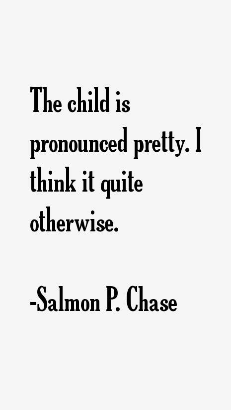 Salmon P. Chase Quotes