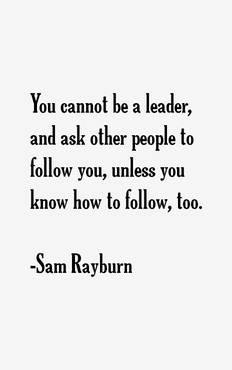 Sam Rayburn Quotes