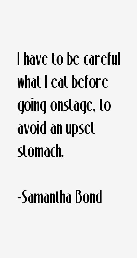 Samantha Bond Quotes