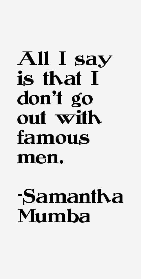 Samantha Mumba Quotes