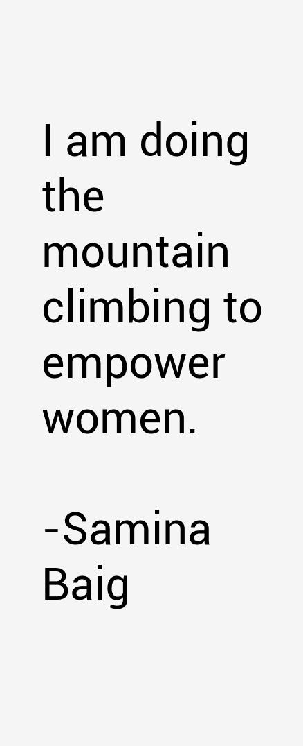 Samina Baig Quotes