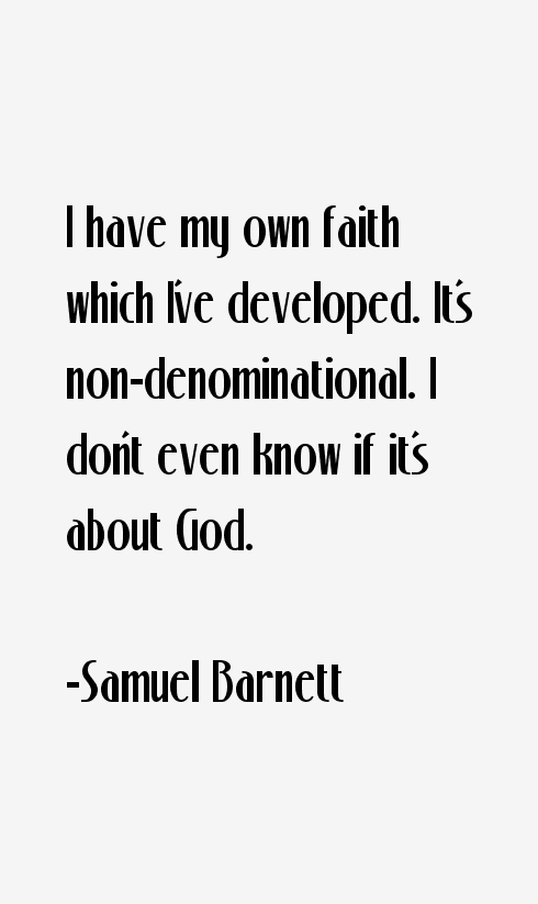 Samuel Barnett Quotes