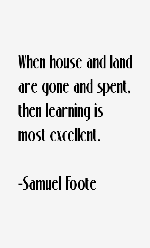 Samuel Foote Quotes