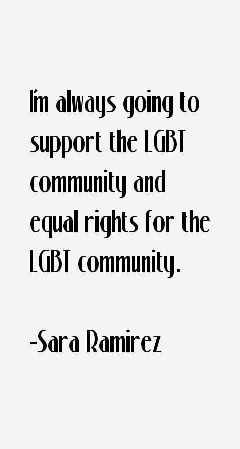 Sara Ramirez Quotes