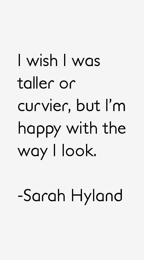 Sarah Hyland Quotes