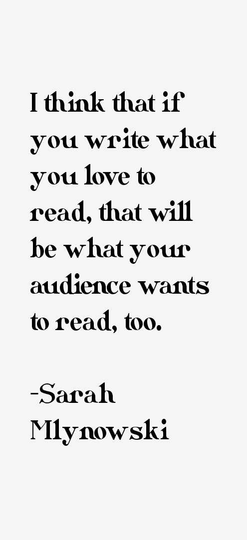 Sarah Mlynowski Quotes