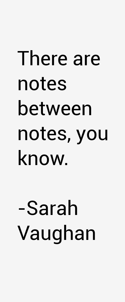 Sarah Vaughan Quotes