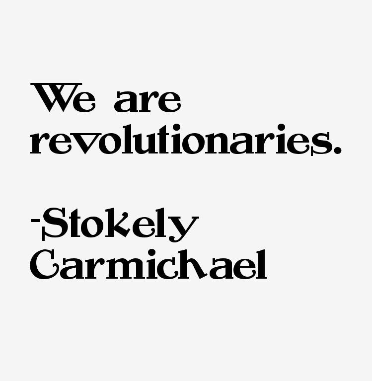 stockley carmichael essay Black power movement essays - black power as interpreted by stokely carmichael.