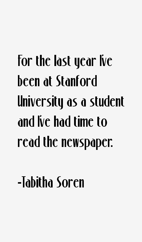 Tabitha Soren Quotes