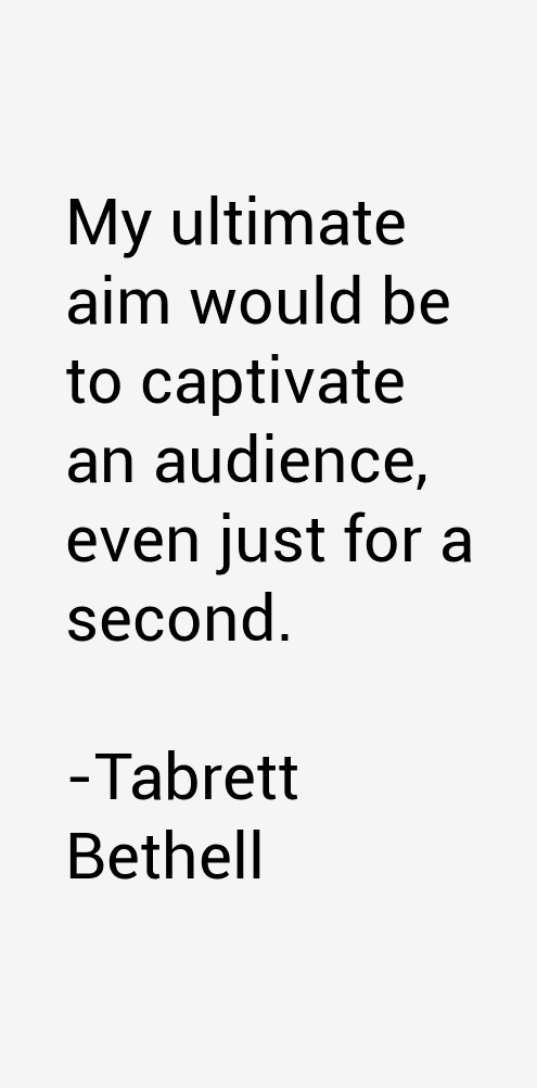 Tabrett Bethell Quotes