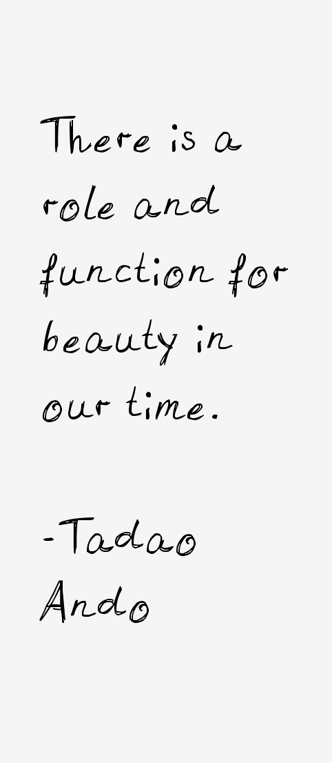 Tadao Ando Quotes