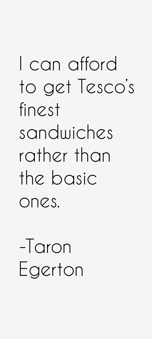 Taron Egerton Quotes