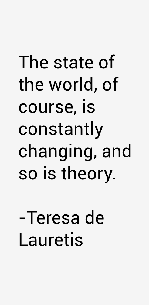 Teresa de Lauretis Quotes