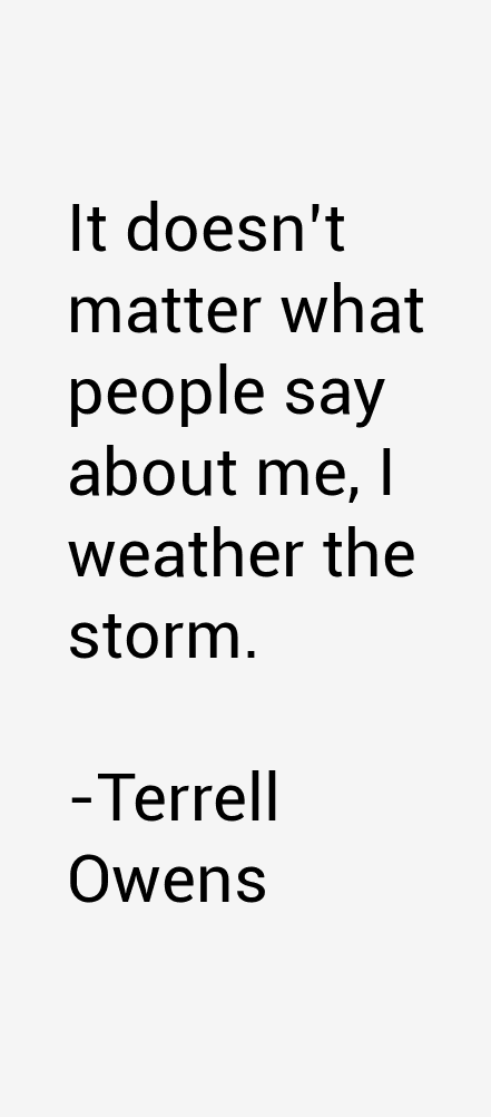Terrell Owens Quotes