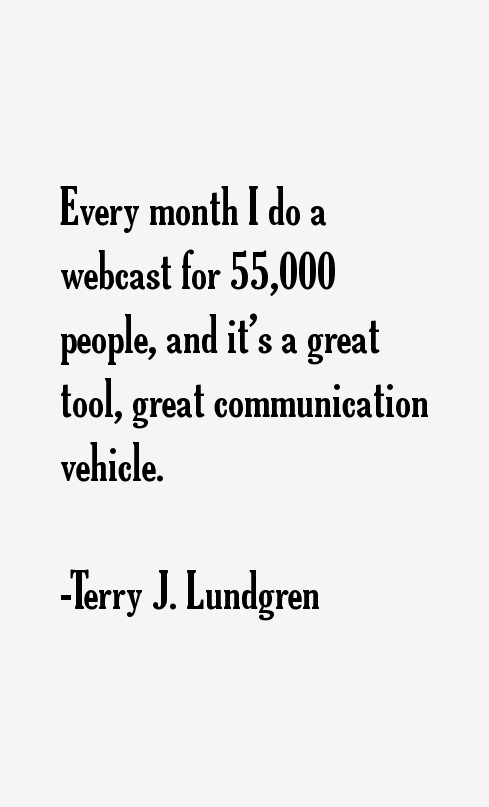 Terry J. Lundgren Quotes