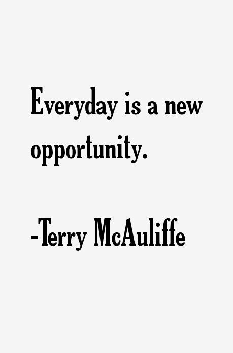 Terry McAuliffe Quotes