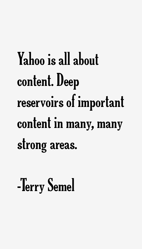 Terry Semel Quotes