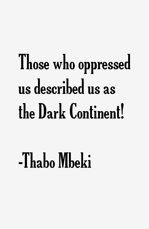 Thabo Mbeki Quotes