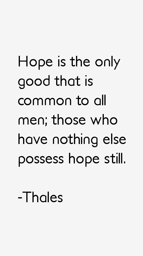 Thales Quotes