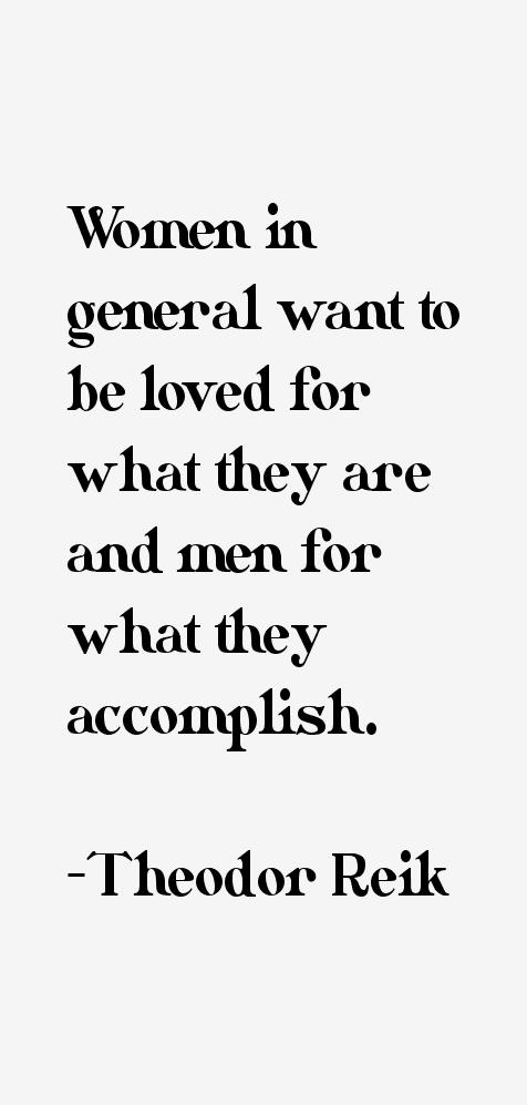 Theodor Reik Quotes