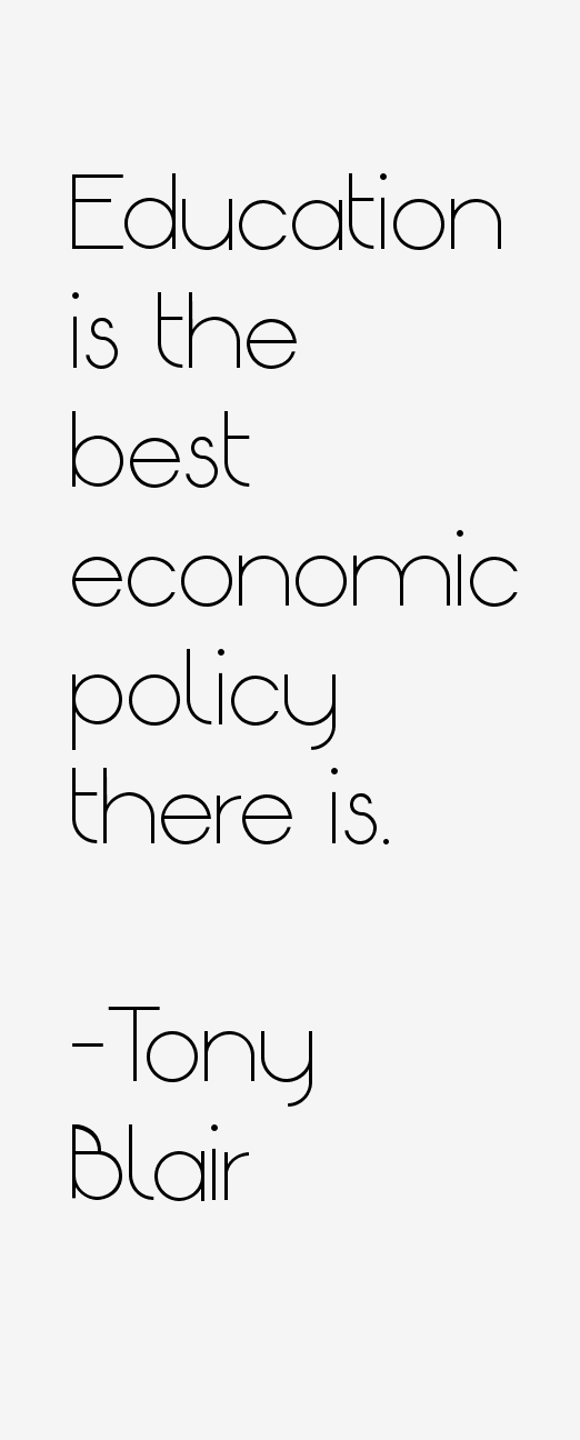 """education is the best economic policy When schapiro, who is now president and professor of economics at  'getting  the prices right' [is] almost always the best economic policy"""",."""