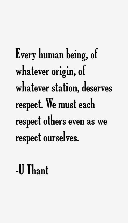 U Thant Quotes