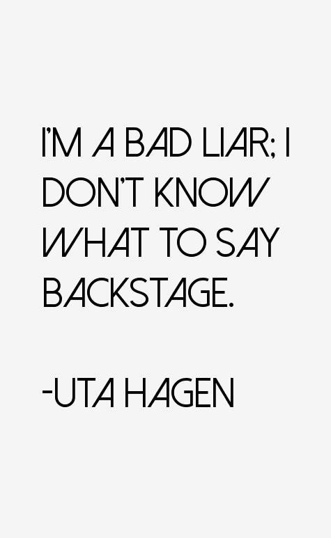 Uta Hagen Quotes