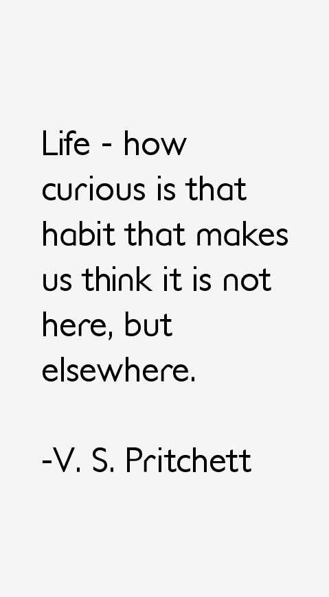 V. S. Pritchett Quotes