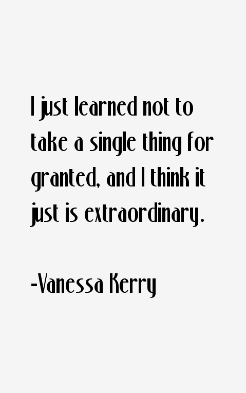 Vanessa Kerry Quotes