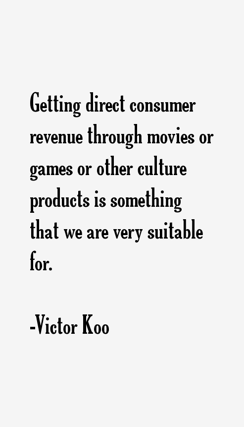 Victor Koo Quotes