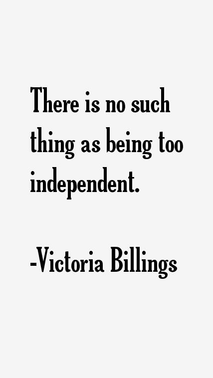 Victoria Billings Quotes