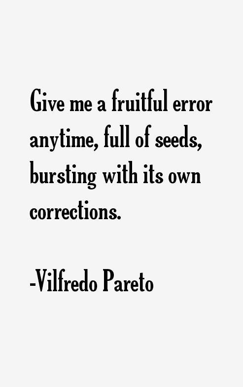 Vilfredo Pareto Quotes