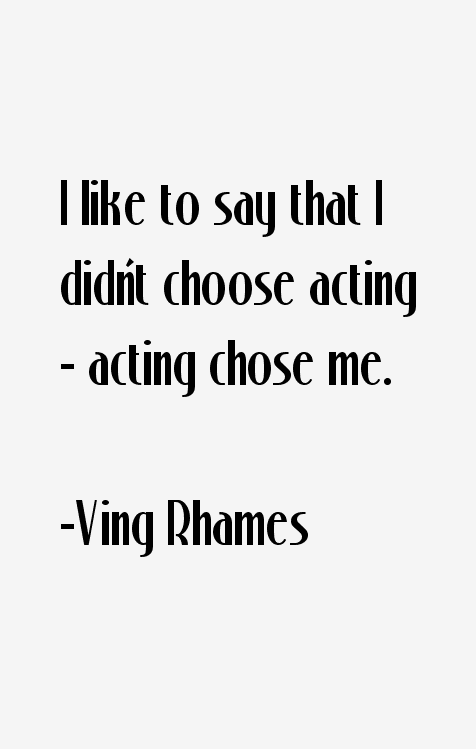 Ving Rhames Quotes