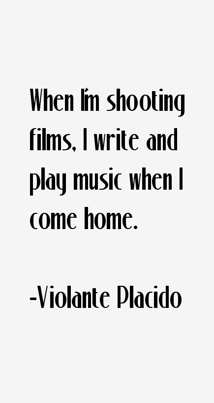 Violante Placido Quotes