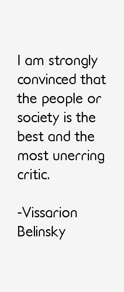 Vissarion Belinsky Quotes