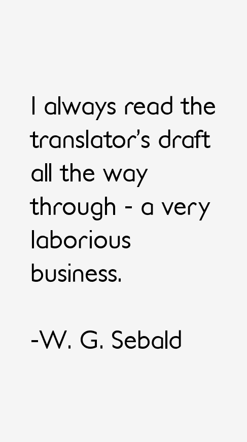 W. G. Sebald Quotes