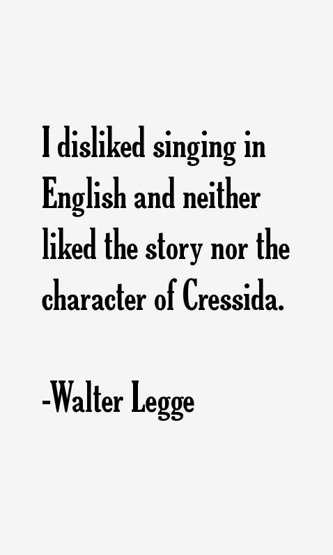 Walter Legge Quotes