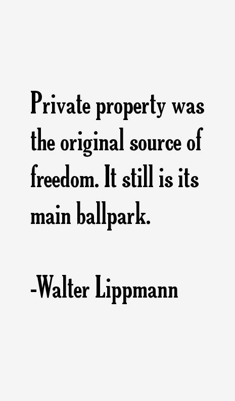 Walter Lippmann Quotes