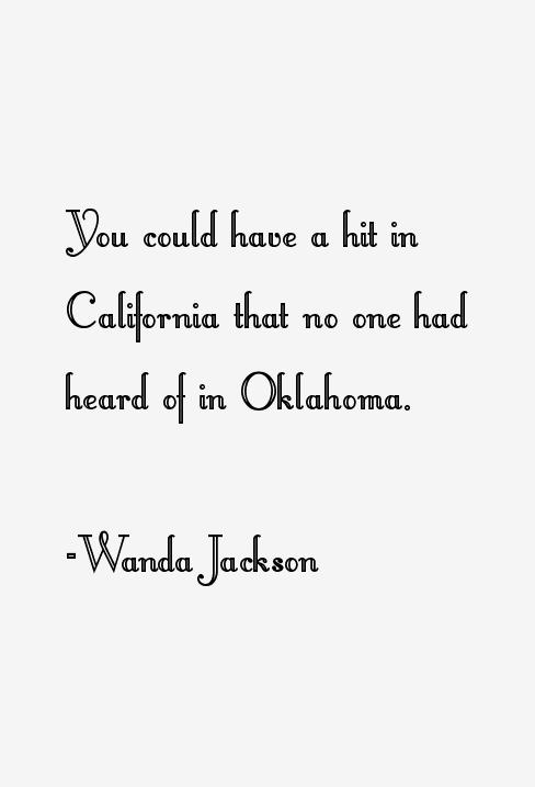 Wanda Jackson Quotes