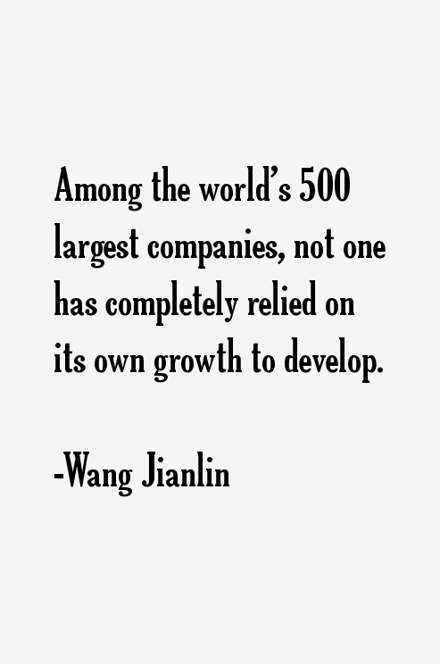Wang Jianlin Quotes