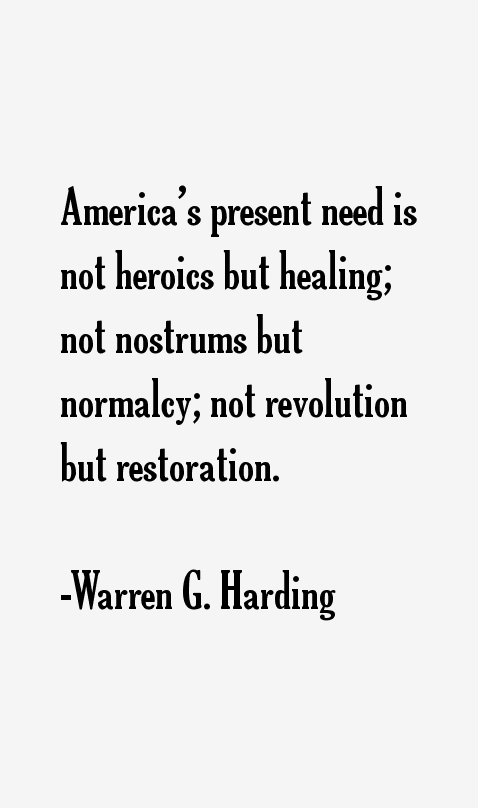 Warren G. Harding Quotes